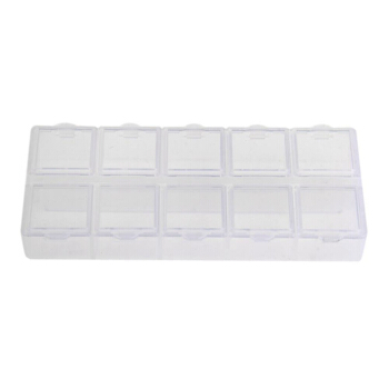 Romote Large Size 24 Compartments Adjustable Plastic Electronics Parts Gadgets Tool Storage Box Case Craft Beads Jewelry Box Sewing Box Organizer Container Divider