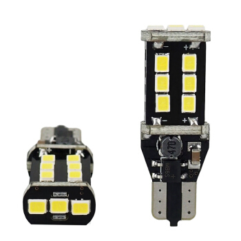 2x T15 W16W Bulbs Reverse 12smd LED Lens Cree White 6000K Canbus Free Error SEAT