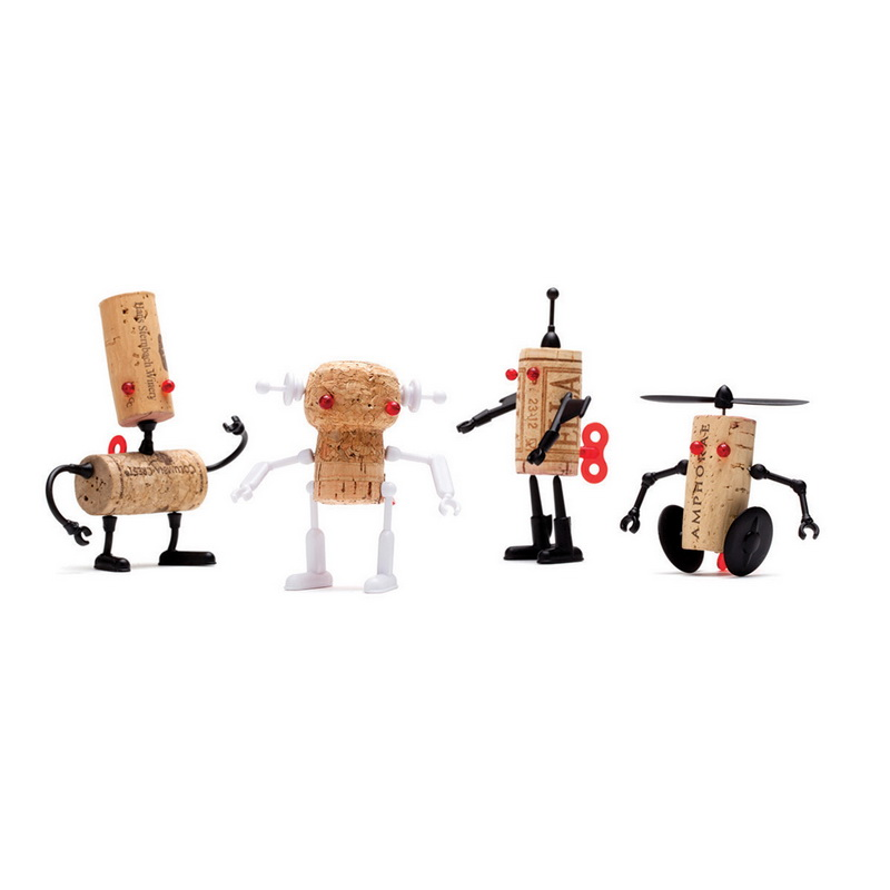 Brand new designed wine cork Robots puzzle Corkers Robot name is Luke