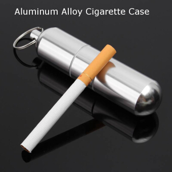 Aluminum Alloy Cigarette Holder Capsule Case Waterproof Pill Toothpick Holder Key Ring