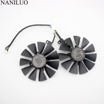2pcs 87mm Graphic Card Cooling Fan For Asus Dual Geforce Gtx1060-O6g Pld09210s12hh Dc12v 040a