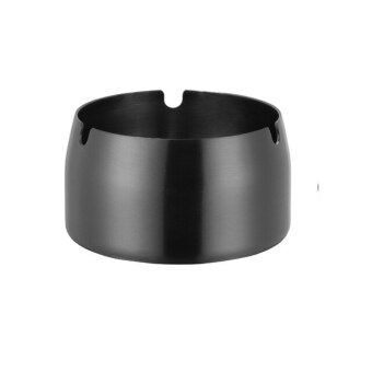 1pc Ash Tray Stainless Steel Ashtray Portable Anti-Rusting Cigarette Holder Round Table- Kitchen Putting Tobacco Ash Utensils