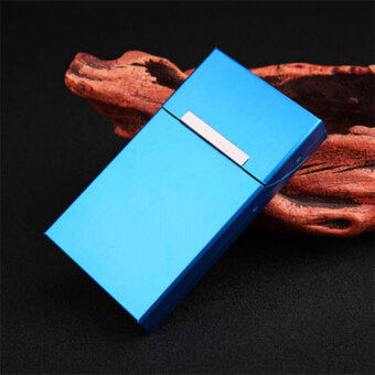 Ultra Thin Creative Personality Cigaret Case Slim Metal Slider Cigarette Box Aluminum Gift Box Cigarette Holder