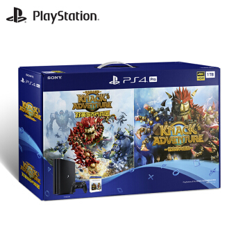 """Sony SONY PS4 Pro Home Entertainment Game Console 1TB """"Rock Lock Remastered Edition"""" """"Dynasty Warriors 7 Mastiff"""" Dual Disc Game Set Black"""