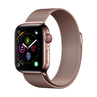 Apple-Apple Watch Series 4 GPSCellular 40mm, Gold Stainless Steel Case, Gold Milanese Loop