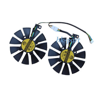 2pcs 87mm Graphic Card Cooling Fan For Asus Dual Geforce Gtx1060-O6g Pld09210s12hh Fans Gtx1060 Fd10015h12s Gtx 970 980 780 Ti
