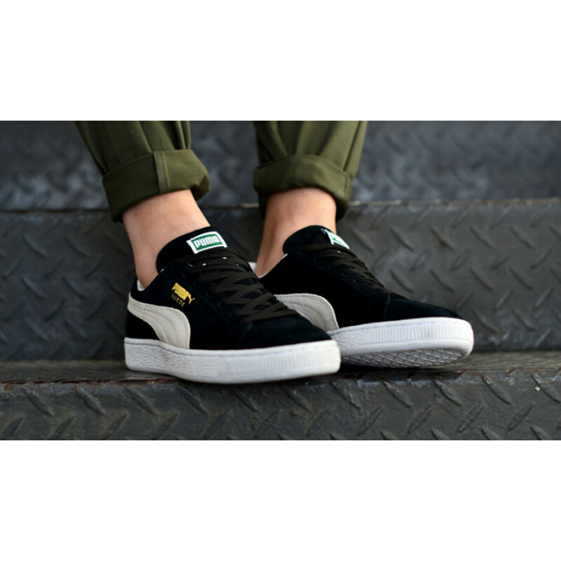 a34f65df0c24 ซื้อ  Global  Puma Suede Classic Black White Mens Womens Shoes Sneakers ( Black White 352634-03) XZ JD Central