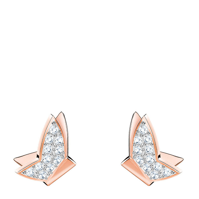 79a0867ff ซื้อ [Global]Swarovski LILIA FIG PIERCED EARRINGS, WHITE, ROSE GOLD ...