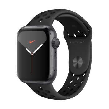 Apple Watch Nike Series 5 GPS (44mm, Space Gray Aluminum Case, Anthracite/Black Nike Sport Band)