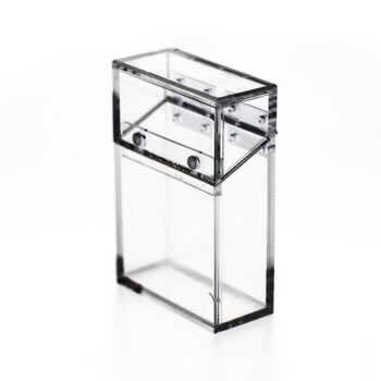 Portable Acrylic Transparent Cigarette Case Ins Style Thick Portable Lighter Package Storage Box 14 Pcs Cigarettes Holder Contai