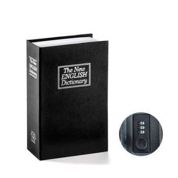 Book Safe with Combination Lock Dictionary Diversion Book Safe Portable Safe Box, Great for storing Money Jewelry Passport Medium