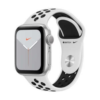 Apple Watch Nike Series 5 GPS (40mm, Silver Aluminum Case, Pure Platinum/Black Nike Sport Band)