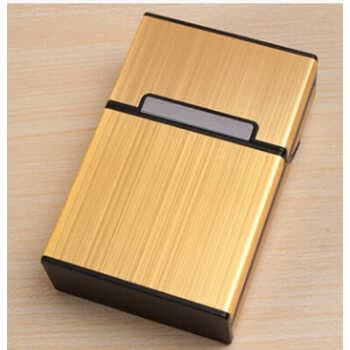 Aluminum Metal Cigarette Case Tobacco Cigar Holder Pocket Box Container Pack