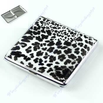 Leopard Pattern Cigarette20 Pcs Tobacco Pocket New Case Box Holder Bw Leather D08f