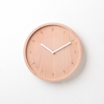 JD Exclusive Wall Clock ALLDAY ROUND นาฬิกาแขวนผนัง ออลเดย์ (Wood:Beech.Color:White) Wall Clocks