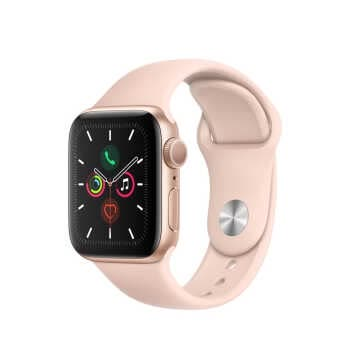 Apple Watch Series 5 GPS (40mm, Gold Aluminum Case, Pink Sand Sport Band)
