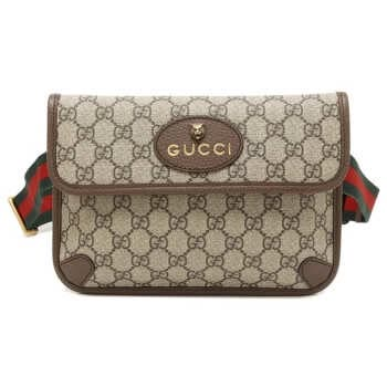 กระเป๋า GUCCI GG SUPREME BELT BAG (BEIGE/EBONY) COLOR: BEIGE/EBONY