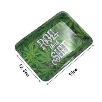 Metal Rolling Letter Printing Tray Hd Pattern Printing Tobacco Cigarette Holder Cigarette Tray Smoking Accessories