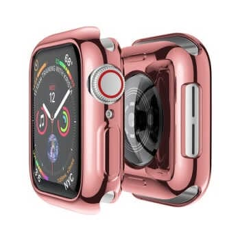 Cover Case For Apple Watch Band 44mm/40mm 42mm/38mm Iwatch Screen Protector Protective Bumper For Applewatch Series 5 4 3 44 Mm rose pink_42mm series 3 2 1