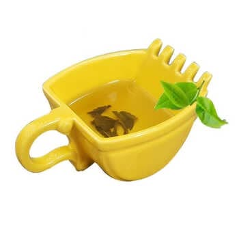 Creativity Excavator Mug Bucket Model Ceramics Mug Whiskey Ashtray Coffee Tea Cup Birthday Present Teacup Cigarette Holder