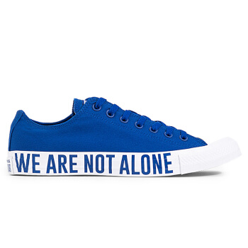 Converse รองเท้าผ้าใบผู้ชาย รุ่น Chuck Taylor All Star We Are Not Alone Ox สีน้ำเงิน
