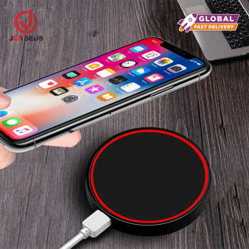 【Global】JOYSEUS Mini Qi Wireless Charger Round Wireless Charger With LED Tip Light For iPhone Samsung XIaomi Huawei