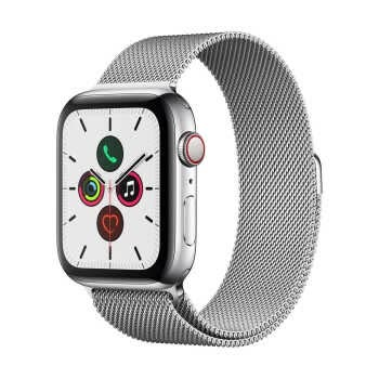 Apple Watch Series 5 GPS+Cellular (44mm, Stainless Steel Case, Silver Milanese Loop Band)