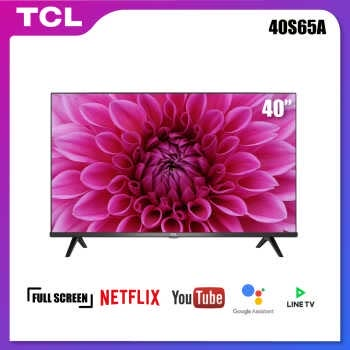 TCL 40 นิ้ว LED Wifi HD 720P Android 8.0 Smart TV (รุ่น 40S65A)-HDMI-USB-DTS-Frameless-1.5G RAM+8GROM-Free Voice Search