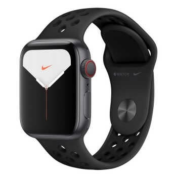 Apple Watch Nike Series 5 GPS + Cellular (40mm, Space Gray Aluminum Case, Anthracite/Black Nike Sport Band)