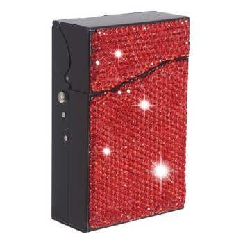 Shiny Storage Box Organizer Cigarette Case Holder Exquisite And Portable Container Holds 18-20 Cigarettes
